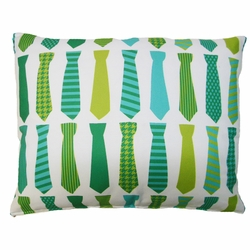 Ties Blue Outdoor Pillow
