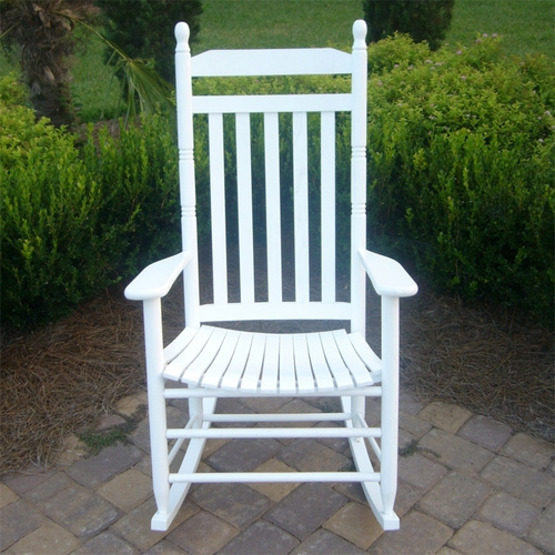 Traditional White Outdoor Rocking Chair & Outdoor White Rocking Chairs Wood Rocking Chair for Adults Ships ...