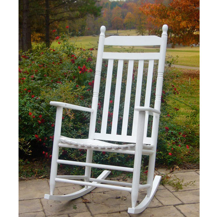 Traditional White Outdoor Rocking Chair