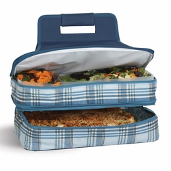 Varsity Plaid Entertainer Insulated Food and Casserole Carrier