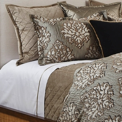 Velvet Coverlet Set in Taupe