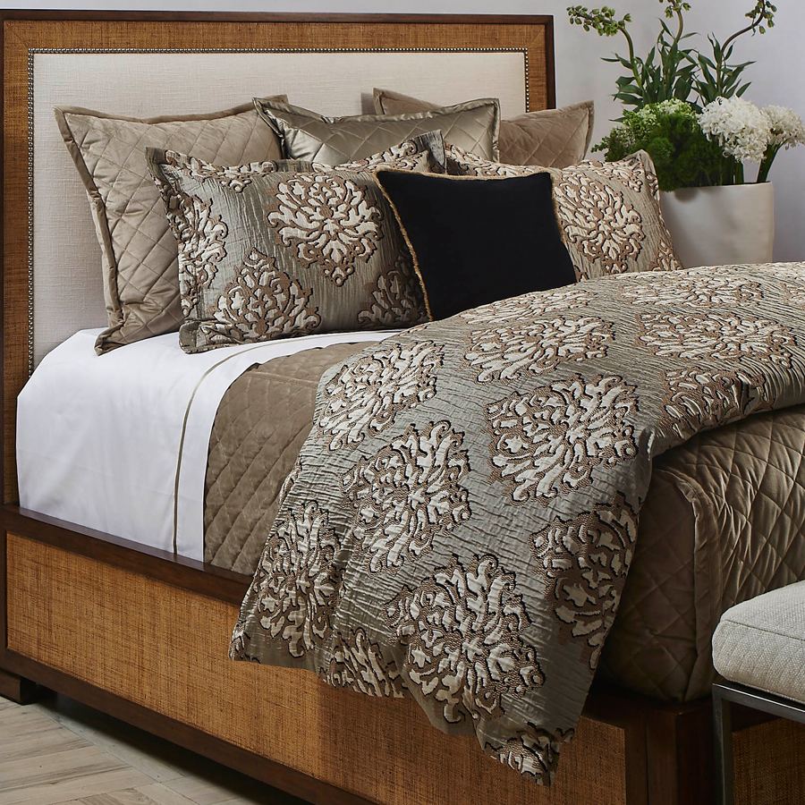 Velvet Coverlet Set In Taupe By The Art Of Home From Ann Gish