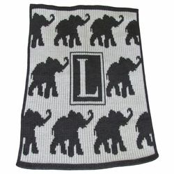 Walking Elephants Baby Blanket