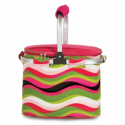 Wavy Watermelon Collapsible Market Tote