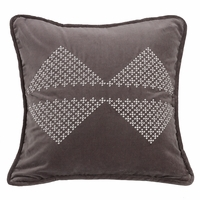Whistler Embroidered Diamond Pillow