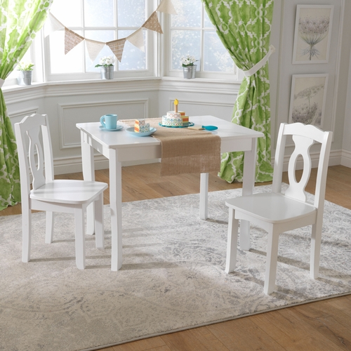 Brighton Kidu0027s Table And Chair Set In White
