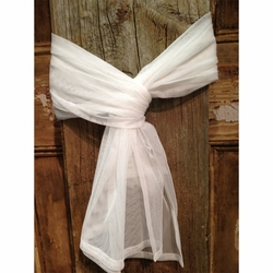 White Window Scarf - Set of 4