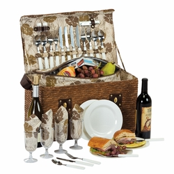 Woodstock Picnic Basket For 4