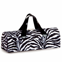 Zebra Fur Carlotta Clutch Wine Bottle Tote