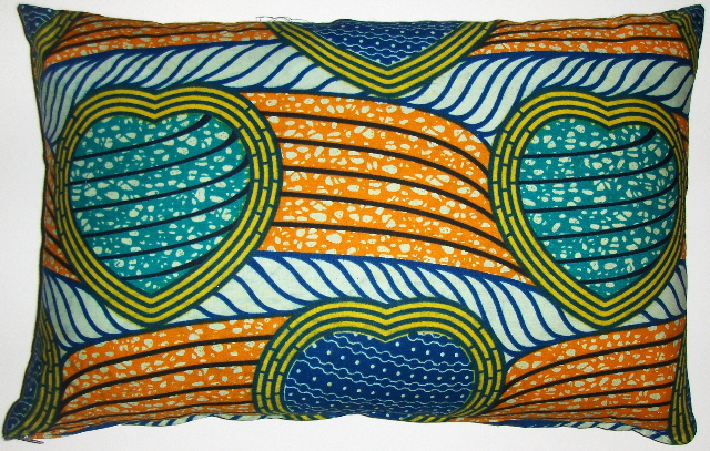 AW18 Untreated cotton African wax print pillow cover