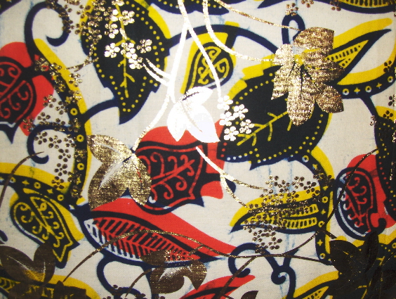 AW27 Untreated cotton African wax printed pillow cover