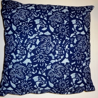 BP4 Indigo block printed pillow cover