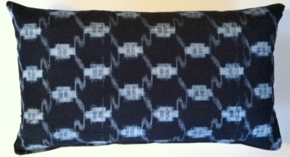 KS4 Japanese kasuri pillow cover