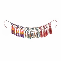 Recycled sari and gold macrame garland