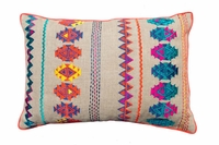 SZN55 Embroidered linen pillow cover