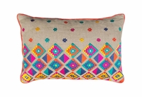 SZN57 Embroidered linen pillow cover