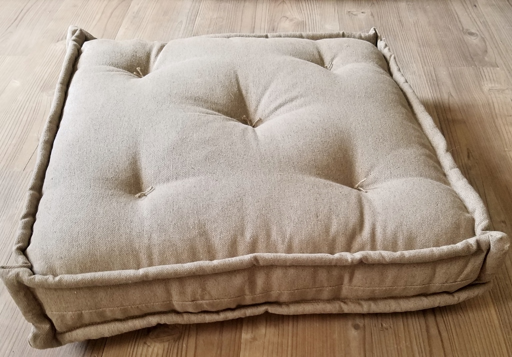 Wool-Filled Floor Cushions