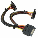 15-pin Sata 2 Power Y Cable, 6in