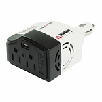 210w 2-outlet Smart AC Inverter W/ USB Port