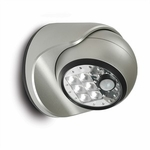 6 LED Sensor Porch Light, Silver