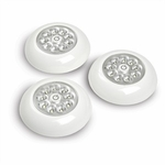 9 LED Stick Anywhere Lights, 3 Pack, White