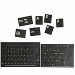 Alphanumeric Replacement Stickers Black/white