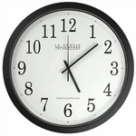 Analog Automic Clock, Black Frame, 14in.