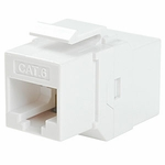 CAT6 Inline Faceplate Coupler, White