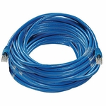 CAT6a, Stp Patch Cable, W/ Boot 100ft, Blue