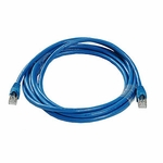 CAT6a, Stp Patch Cable, W/ Boot 10ft, Blue