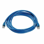CAT6a, Stp Patch Cable, W/ Boot 14ft, Blue