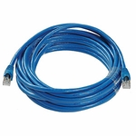 CAT6a, Stp Patch Cable, W/ Boot 25ft, Blue
