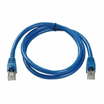 CAT6a, Stp Patch Cable, W/ Boot 3ft, Blue