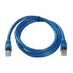 CAT6a, Stp Patch Cable, W/ Boot 5ft, Blue