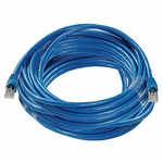 CAT6a, Stp Patch Cable, W/ Boot 75ft, Blue