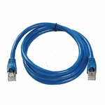 CAT6a, Stp Patch Cable, W/ Boot 7ft, Blue