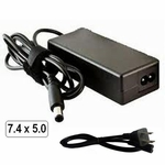 Compaq HP Part Number 18.5v 3.5a, 65 Watt AC Adapter Charger, Power Cord, 7.4x5.0 plug