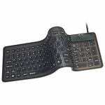 Flexible Compact Keyboard USB W/ PS2 Adapter