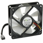 Gelid Silent8 80mm Silent Case Fan, 3 Pin Molex