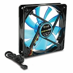 Gelid Wing 12 120mm Case Fan 1500rpm, Uv, Blue