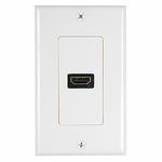 HDMI Wall Plate, 1port, Off-white