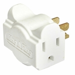 Hug-a-plug Dual Outlet Wall Adapter, 6pk, White