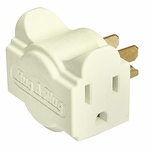 Hug-a-plug Dual Outlet Wall Adapter, Ivory