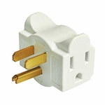 Hug-a-plug Dual Outlet Wall Adapter, White