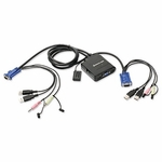 Iogear 2 Port USB KVM Switch With Audio And Mic