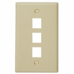 Keystone Faceplate 3-hole, Ivory