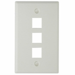 Keystone Faceplate 3-hole, White