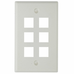 Keystone Faceplate 6-hole, White