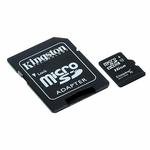 Kingston Micro Sdhc Card W/ SD Adapter, 16gb