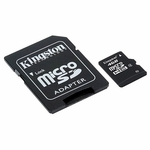 Kingston Micro Sdhc Card W/ SD Adapter, 4gb